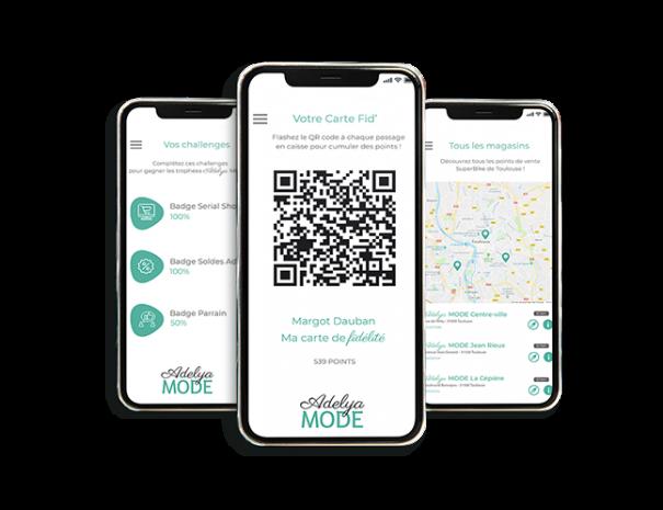 Application mobile d'une enseigne avec un programme de fidélité